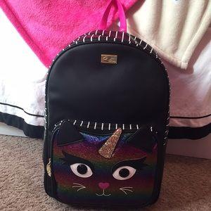 NWT Betsey Johnson large unicorn backpack